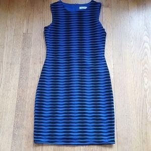 Calvin Klein textured sheath stretch dress 6P